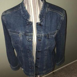 J. Jill Jackets & Coats - J.Jill jean jacket rounded collar
